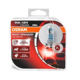 Автолампа ( H4)  12V 60/55W (P43t-38) NIGHT BREAKER UNLIMITED+110% 64193NBU_DuoBox  OSRAM