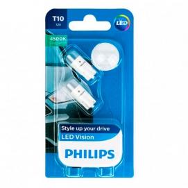 PHILIPS T10 W5W 12V 4500K к-т