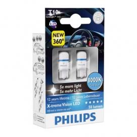 PHILIPS T10 W5W 12V 8000K к-т