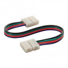 Соединитель (15см) для RGB ленты (Зажим-Зажим)