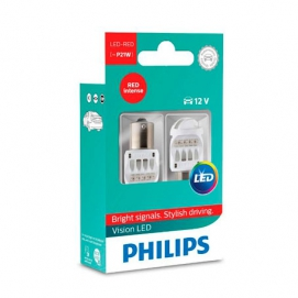 philips P21W 12V BA15S led red к-т.