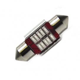 C5W 10 led 31mm (красная)