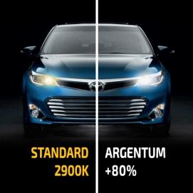 Лампа галогенная H1 Argentum +80% (комп)
